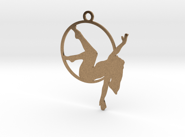 """""""Man on the moon"""" Aerial hoop pose in Raw Brass"""