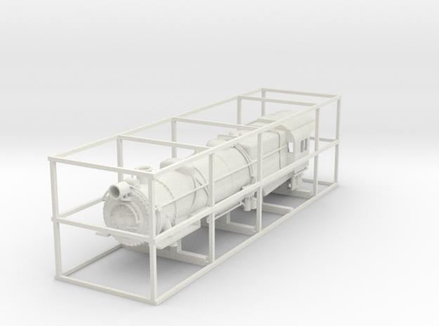 PRR L1 TT Scale Shell w/ details in White Natural Versatile Plastic