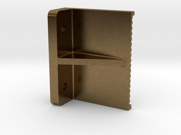 """3/4"""" boiler step, flat back mount in Natural Bronze"""