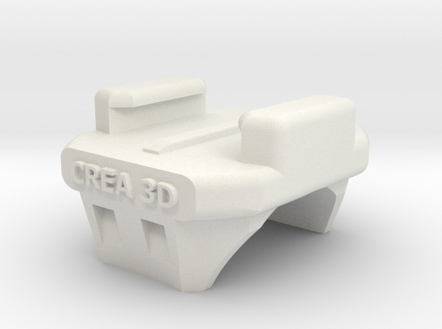 GoPro Handlebar Mount Crea3D in White Natural Versatile Plastic