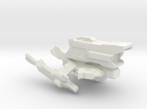 Interplanetary Tiger Spaceship in White Natural Versatile Plastic