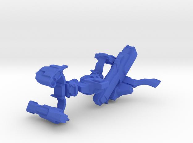 Leaping Interdictor Spaceship in Blue Processed Versatile Plastic