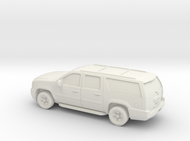 1/100 2007-14 Chevrolet Suburban in White Natural Versatile Plastic