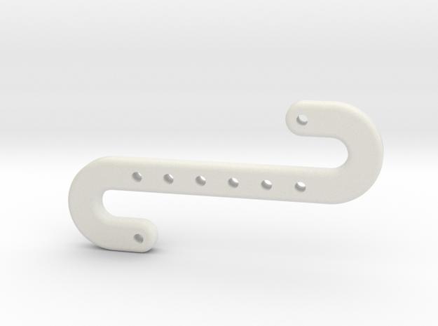 Snake Hook in White Natural Versatile Plastic