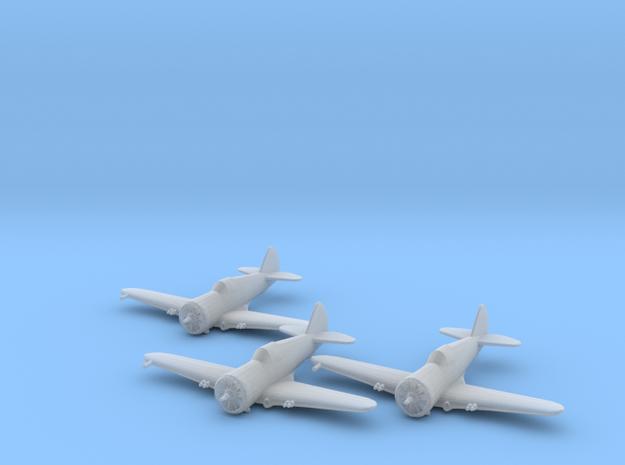 Curtiss P-36 'Hawk' 1:200 x3 FUD in Smooth Fine Detail Plastic