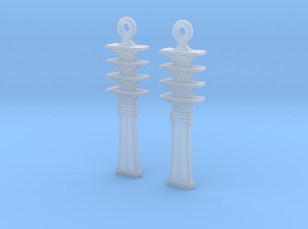Djed EarRings - Pair - Plastic 3d printed