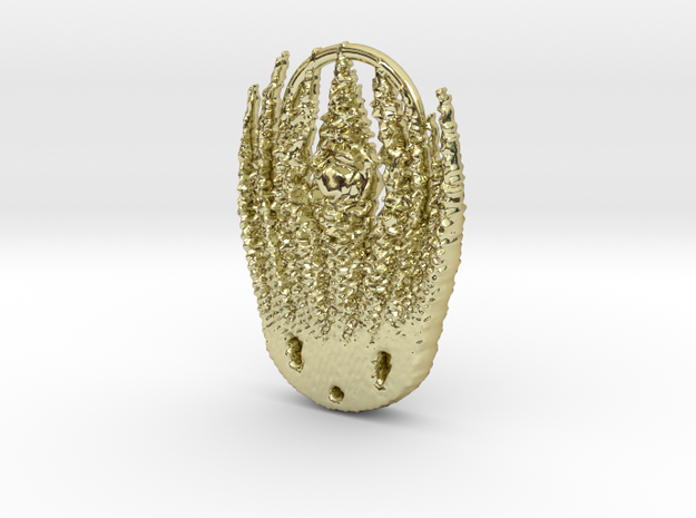 Benday squid in 18k Gold Plated Brass