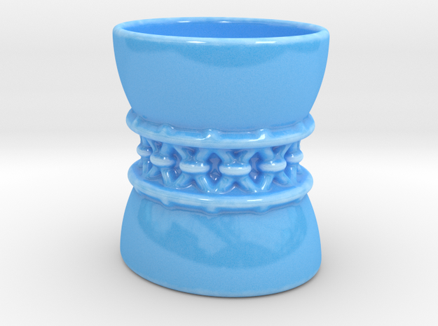 Corset Cup  in Gloss Blue Porcelain