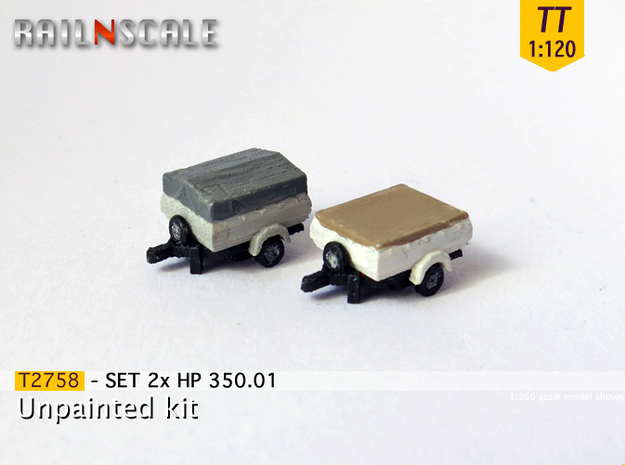 SET 2x HP 350.01 (TT 1:120) in Frosted Ultra Detail