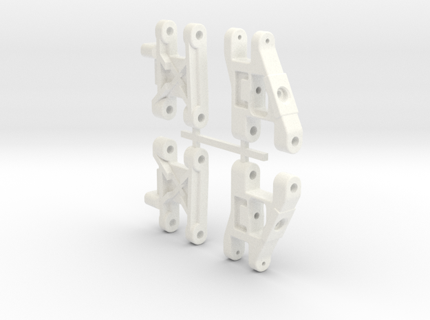 NRC-32 Front & Rear Arms in White Processed Versatile Plastic