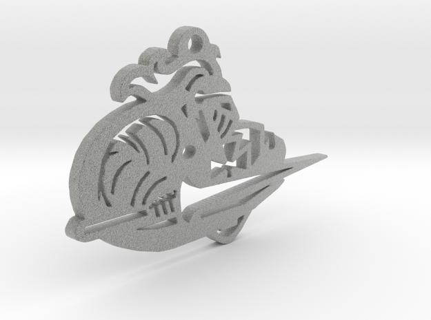 Lancer Keychain or Ornament in Metallic Plastic