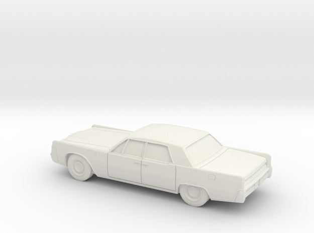 1/87 1965 Lincoln Continental Sedan in White Natural Versatile Plastic