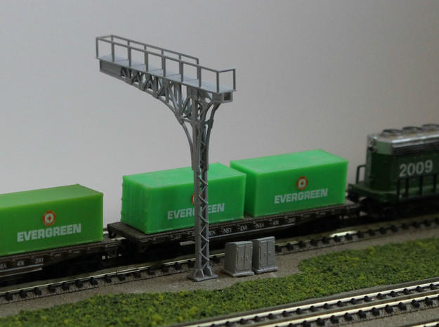N Scale 2x ATSF Style Cantilever