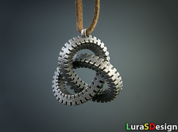 Escher Knot Pendant in Stainless Steel
