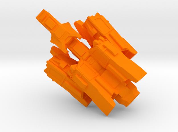 Ray Harpy in Orange Processed Versatile Plastic