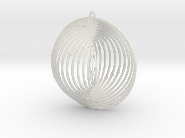 Pendant Wind Spinner Circle in White Strong & Flexible