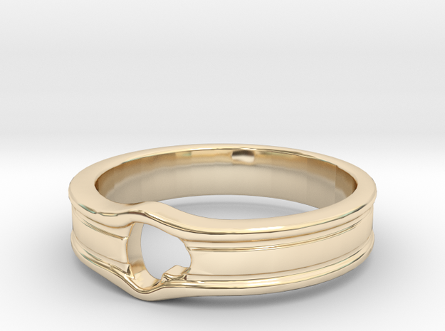 HEART_LINE in 14K Yellow Gold