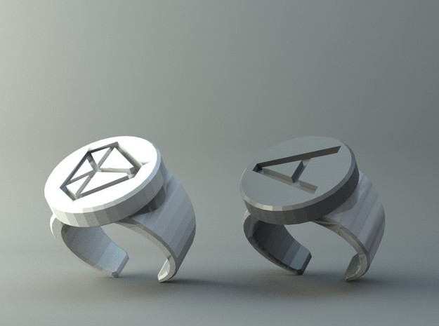 Prime Ring - Badge A in Stainless Steel