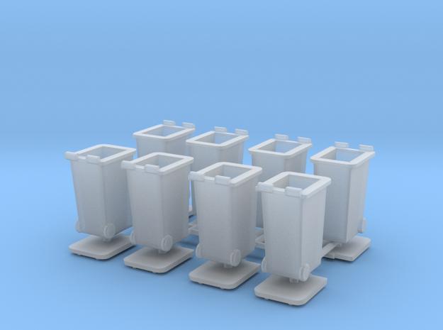 H0 Rubbish bins set B ( 8 pcs ) 1:87 scale 3d printed