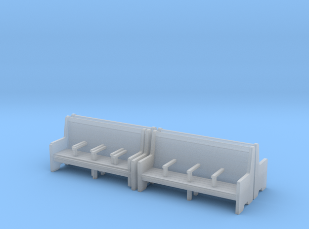 Bench type C - 1:72 scale  4 Pcs set in Frosted Ultra Detail