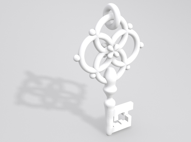 Old Necklace Pendant 3d printed Sample render NOTE:Ring at the top is now fully attached.