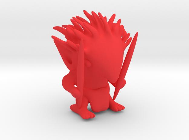 Pukwudgie in Red Processed Versatile Plastic