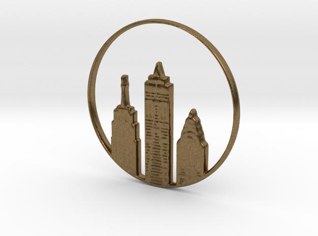 New York Pendant in Natural Bronze