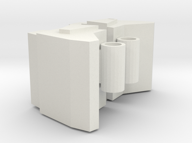 Galvatron Shoulders in White Natural Versatile Plastic