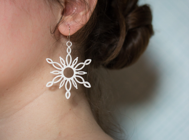 Sol Earrings in White Strong & Flexible Polished