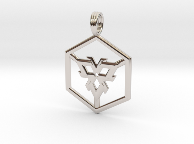 LIGHT CUBE in Rhodium Plated