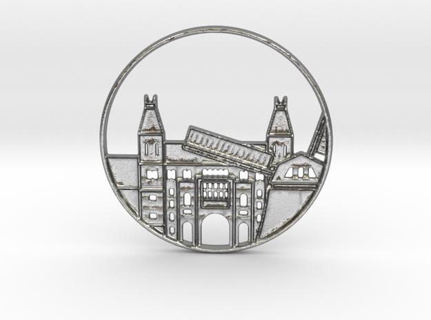 Amsterdam Pendant in Natural Silver