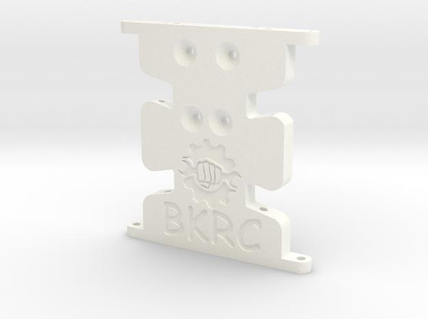 Scx10 Low Profile Trans Skid in White Processed Versatile Plastic