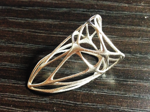 Diamond Ring (sz 9) 3d printed