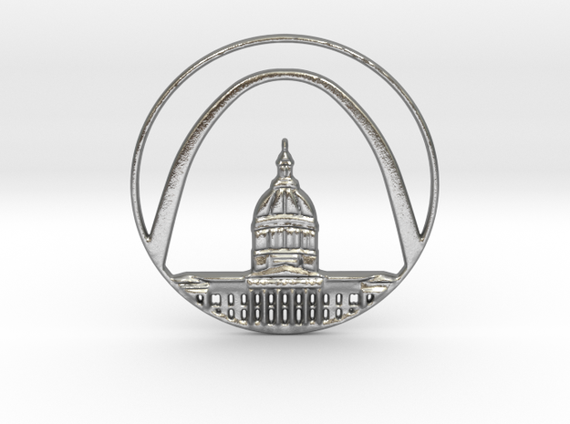 St. Louis Pendant in Natural Silver