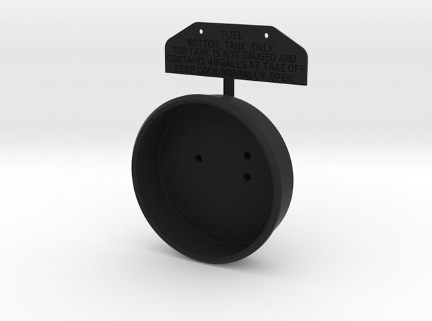 Spitfire Fuel Gauge with Tag in Black Natural Versatile Plastic