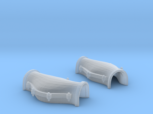 1/75 USN Cable Locker Covers Foredeck in Smooth Fine Detail Plastic