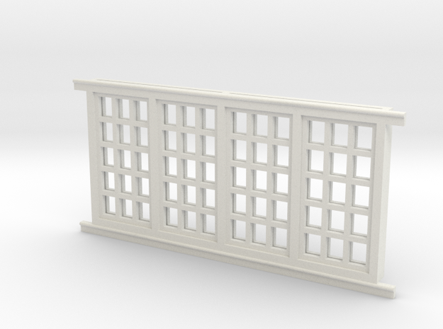 Red Barn Window Group D (1) - 72:1 Scale in White Natural Versatile Plastic
