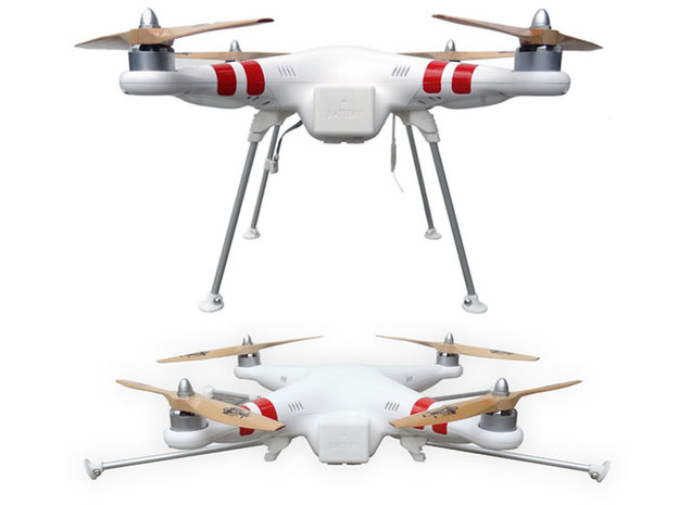 DJI Phantom Foldable Landing Gear in White Natural Versatile Plastic