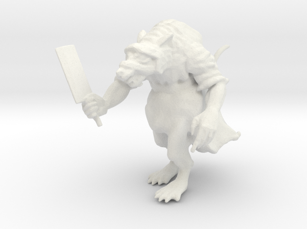 Robed Ratman in White Strong & Flexible