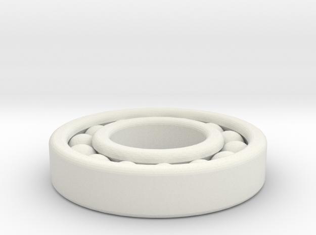 Ball Bearing in White Natural Versatile Plastic