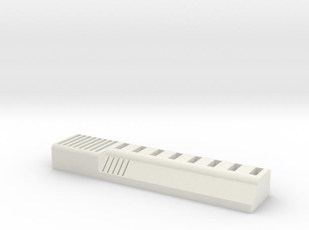 USB Stick SD Card Holder - 8 USB in White Natural Versatile Plastic