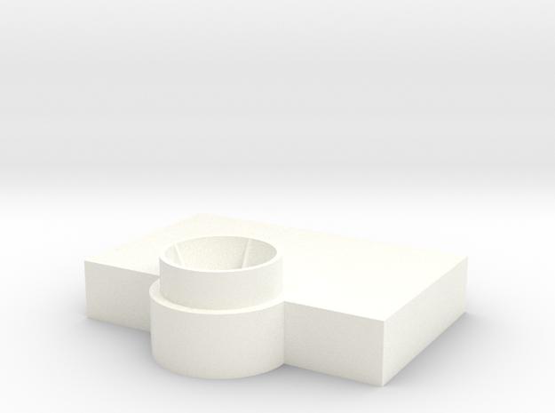 Bridge - Captain's Chair Platform 09 in White Processed Versatile Plastic