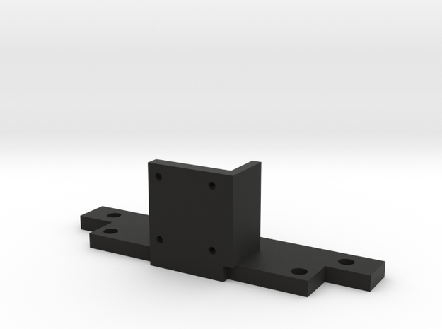 L Motor Bracket in Black Natural Versatile Plastic