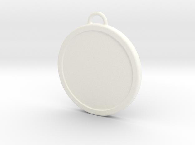 Chirstmas Ball (Flat) - Custom in White Processed Versatile Plastic