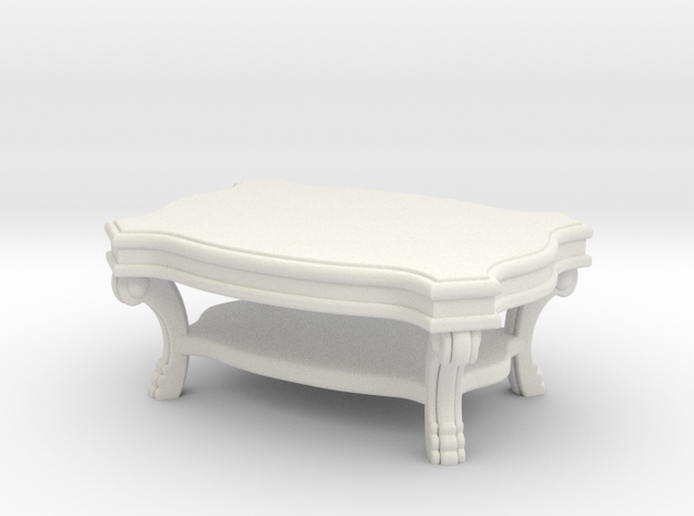 Coffee Table Victorian V1 in White Strong & Flexible