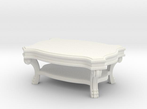 Coffee Table Victorian V1 in White Natural Versatile Plastic
