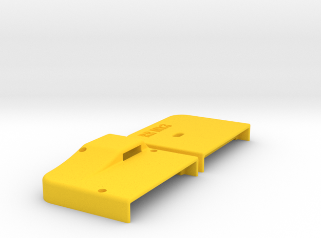 Commodore 64 RRnet Mk3 Stand Alone Case in Yellow Processed Versatile Plastic