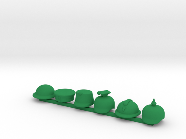 6 x All Quiet on the Western Front  in Green Processed Versatile Plastic