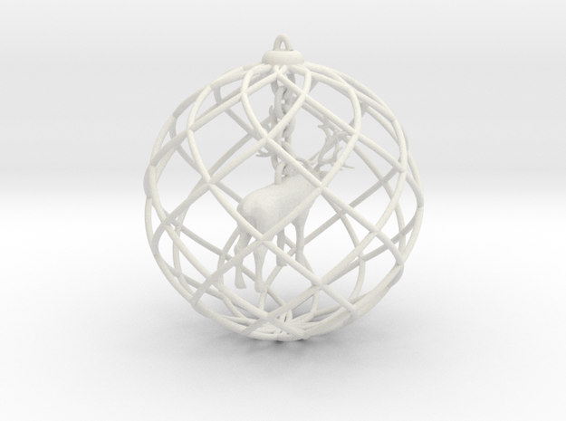 Xmas decoration » Elk in White Strong & Flexible