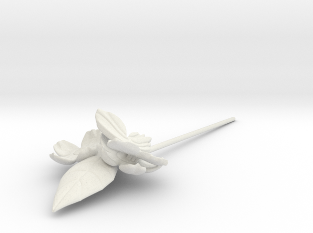 FLEURISSANT Hairpin in White Natural Versatile Plastic